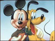 Mickey and Pluto Coloring Page